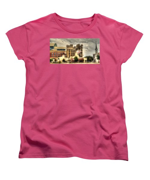 Bringing Down The House Women's T-Shirt (Standard Cut) by David Morefield