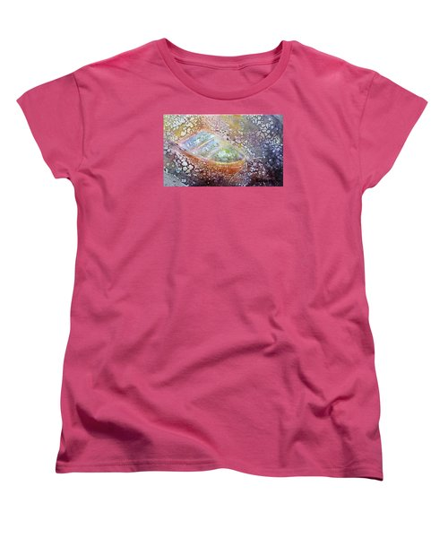 Bubble Boat Women's T-Shirt (Standard Cut) by Kathleen Pio