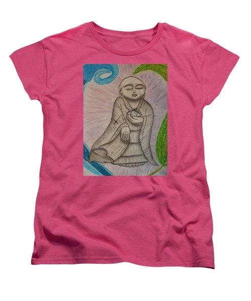 Buddha And The Eye Of The World Women's T-Shirt (Standard Cut) by Thomasina Durkay