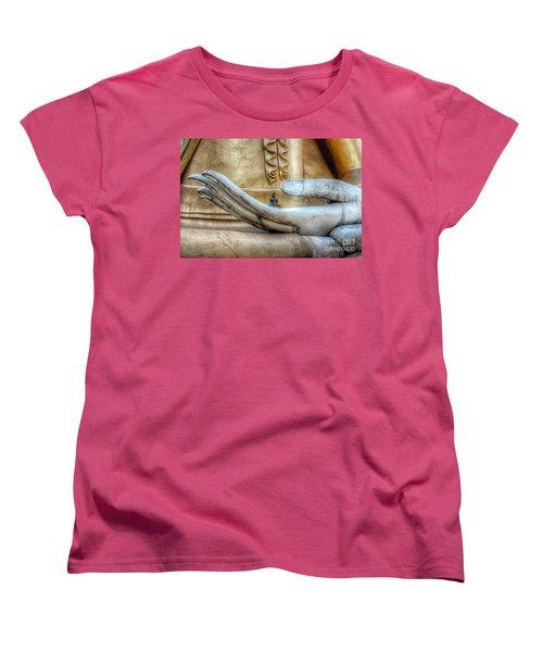 Buddha's Hand Women's T-Shirt (Standard Cut) by Adrian Evans