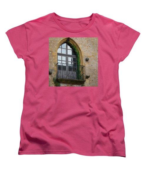 Burgundy Window Women's T-Shirt (Standard Cut) by Cheryl Miller