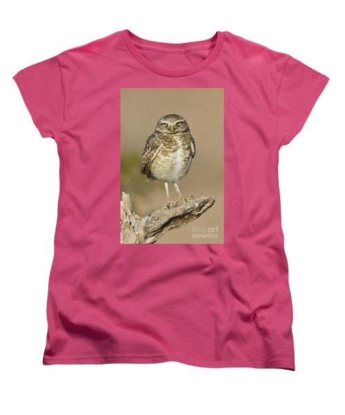 Women's T-Shirt (Standard Cut) featuring the photograph Burrowing Owl by Bryan Keil