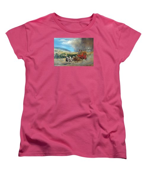 Women's T-Shirt (Standard Cut) featuring the painting Business As Usual by Donna Tucker