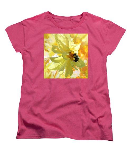 Busy Bumble Bee Women's T-Shirt (Standard Cut) by Judy Palkimas