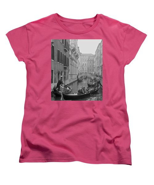 Busy Day In Venice Women's T-Shirt (Standard Cut) by Suzanne Oesterling
