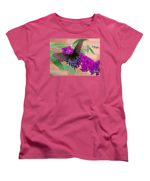 Butterfly And Friend Women's T-Shirt (Standard Cut) by Luther Fine Art