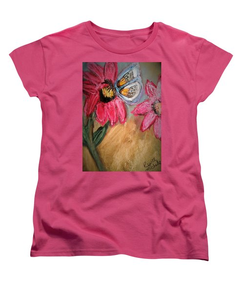 Butterfly Breakfast Women's T-Shirt (Standard Cut) by Renee Michelle Wenker