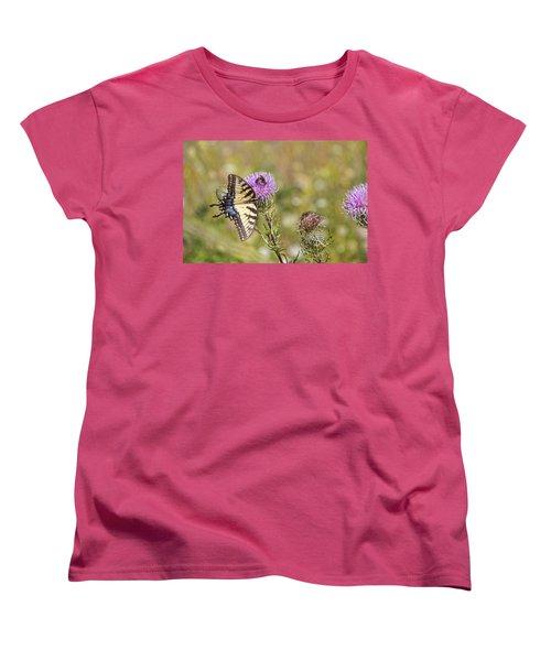 Butterfly Women's T-Shirt (Standard Cut) by Daniel Sheldon