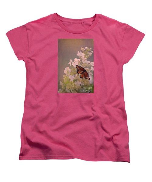 Butterfly Glow Women's T-Shirt (Standard Cut) by Elizabeth Winter