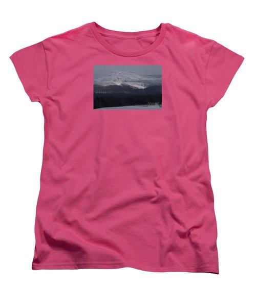 Women's T-Shirt (Standard Cut) featuring the photograph Cabin Mountain by Randy Bodkins