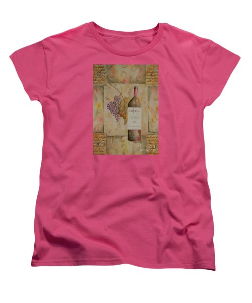 Women's T-Shirt (Standard Cut) featuring the painting Calais Vineyard by Tamyra Crossley