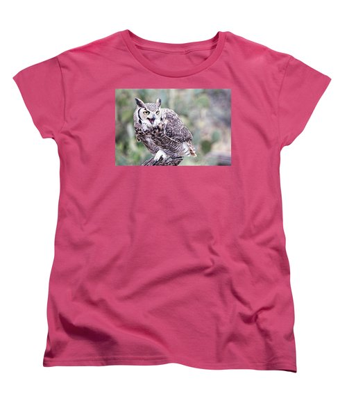 Women's T-Shirt (Standard Cut) featuring the photograph Call Of The Owl by Dan McManus