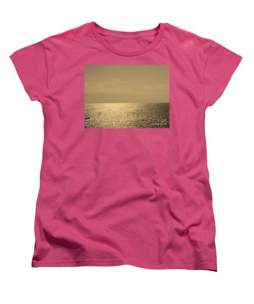 Calm Arabian Sea Women's T-Shirt (Standard Cut) by Mini Arora