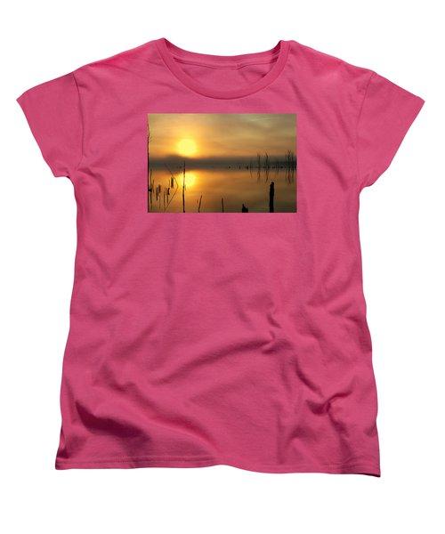 Calm At Dawn Women's T-Shirt (Standard Cut) by Roger Becker