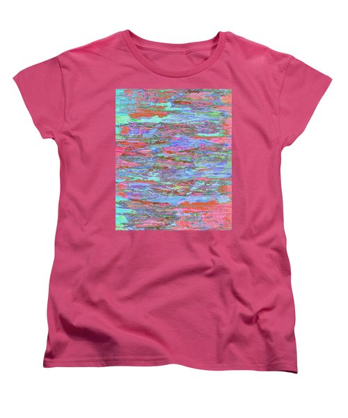 Women's T-Shirt (Standard Cut) featuring the digital art Calmer Waters by Stephanie Grant