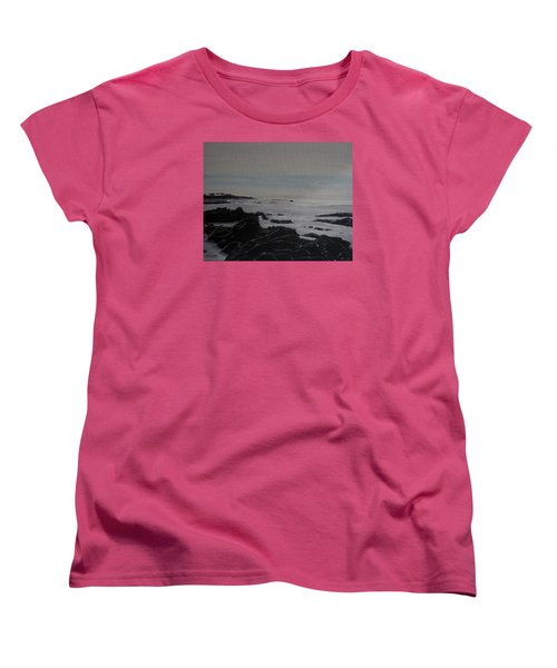 Women's T-Shirt (Standard Cut) featuring the painting Cambria Tidal Pools by Ian Donley