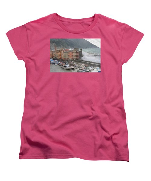 Women's T-Shirt (Standard Cut) featuring the photograph Camogli Under A Storm by Antonio Scarpi