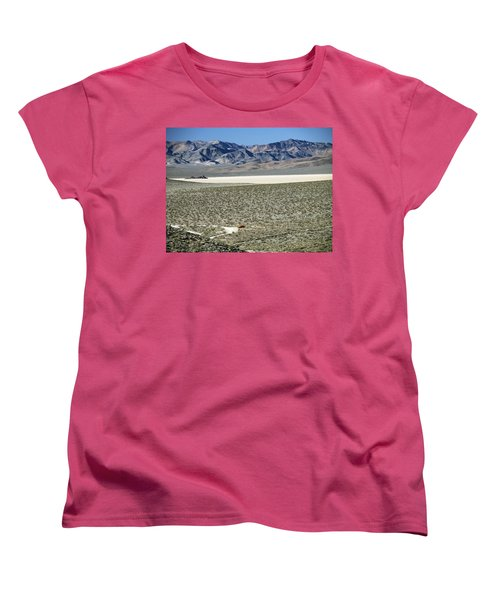 Camped At The End Of The Road Women's T-Shirt (Standard Cut) by Joe Schofield