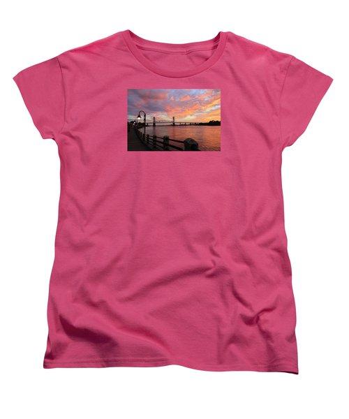 Cape Fear Bridge Women's T-Shirt (Standard Cut) by Cynthia Guinn
