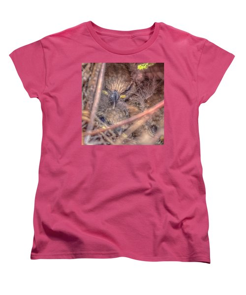 Women's T-Shirt (Standard Cut) featuring the photograph Carolina Wren Nest by Rob Sellers