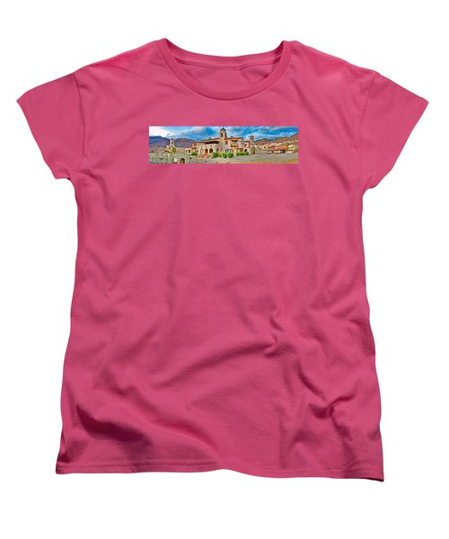 Castle In A Desert, Scottys Castle Women's T-Shirt (Standard Cut) by Panoramic Images