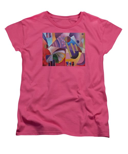 Women's T-Shirt (Standard Cut) featuring the painting Cerebral Decor by Jason Williamson