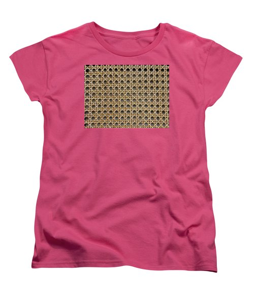 Women's T-Shirt (Standard Cut) featuring the photograph Chair Caning  by Sherman Perry