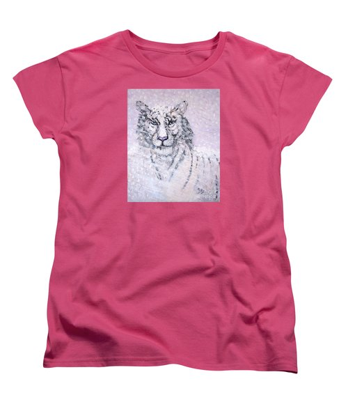Women's T-Shirt (Standard Cut) featuring the painting Chairman Of The Board by Phyllis Kaltenbach