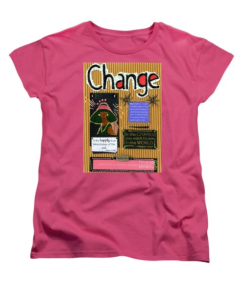 Change - Handmade Card Women's T-Shirt (Standard Cut) by Angela L Walker