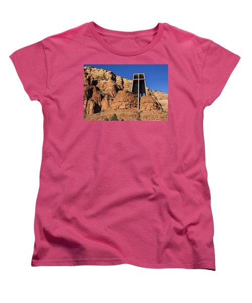Chapel Of The Holy Cross Women's T-Shirt (Standard Cut) by Fred Larson