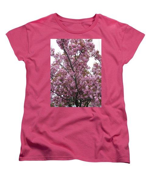 Cherry Blossoms 2 Women's T-Shirt (Standard Cut) by David Trotter