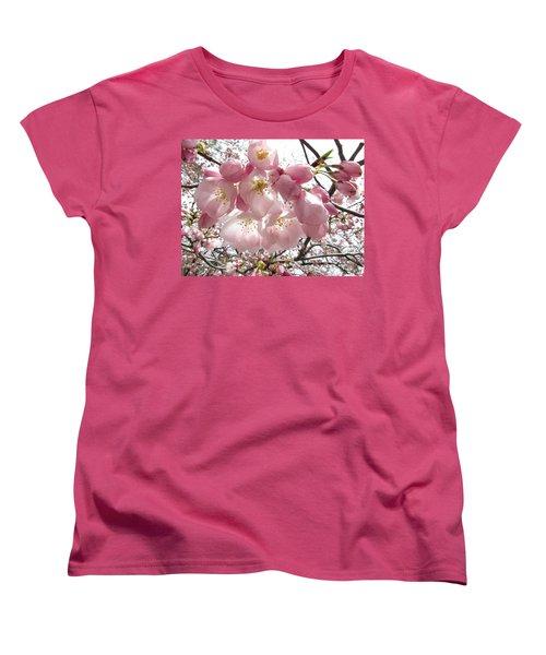 Cherry Blossoms Women's T-Shirt (Standard Cut) by Jennifer Wheatley Wolf