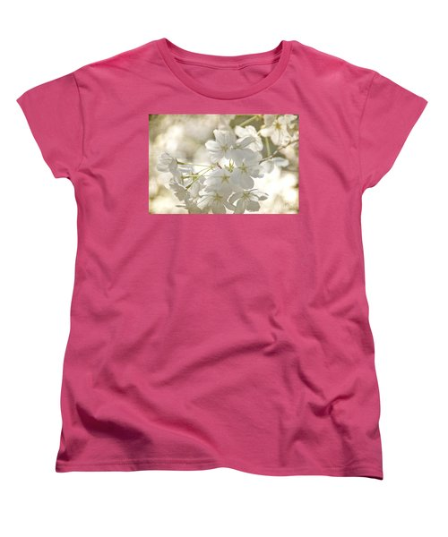 Cherry Blossoms Women's T-Shirt (Standard Cut) by Peggy Hughes