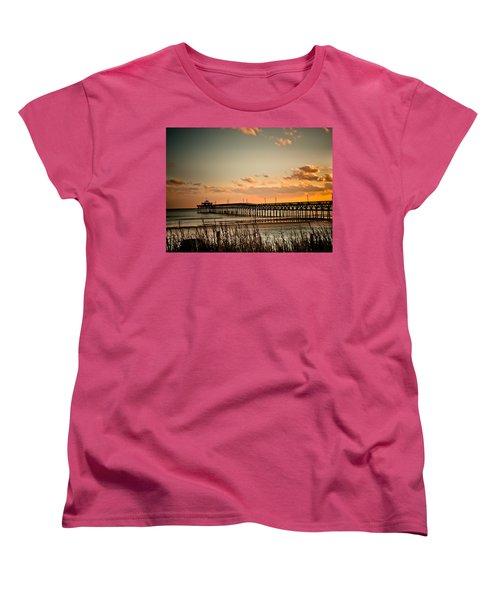Cherry Grove Pier Myrtle Beach Sc Women's T-Shirt (Standard Cut) by Trish Tritz