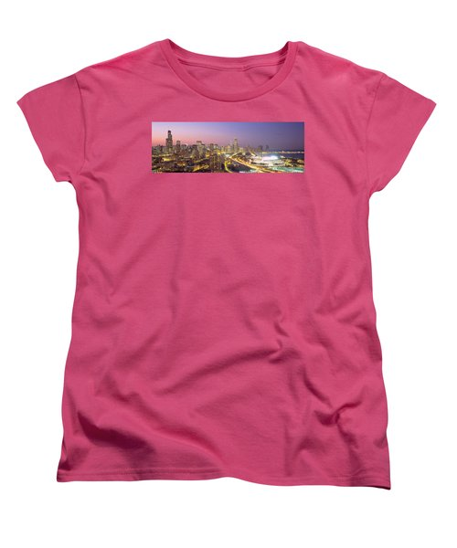 Chicago, Illinois, Usa Women's T-Shirt (Standard Cut) by Panoramic Images