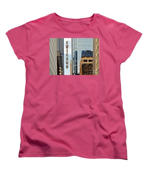 Chicago  Women's T-Shirt (Standard Cut) by Lydia Holly
