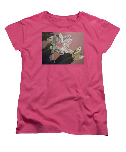 Christmas Bloom Women's T-Shirt (Standard Cut) by Claudia Goodell