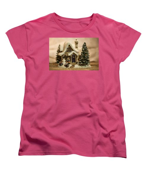 Women's T-Shirt (Standard Cut) featuring the photograph Christmas Toy Village by Alex Grichenko