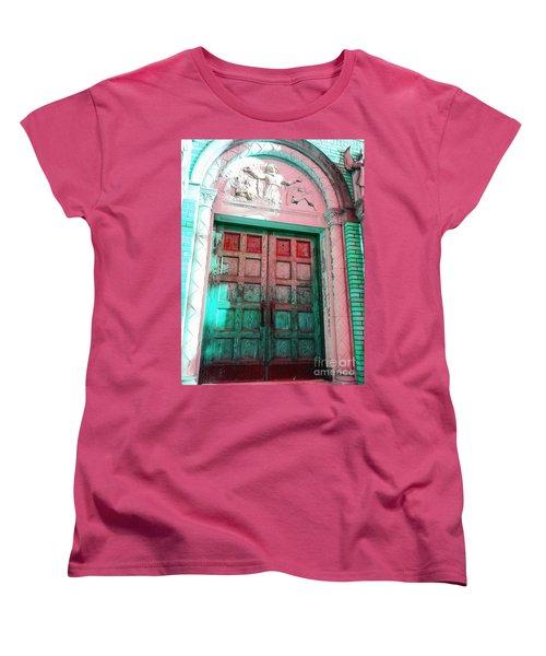Women's T-Shirt (Standard Cut) featuring the photograph Church Door by Becky Lupe