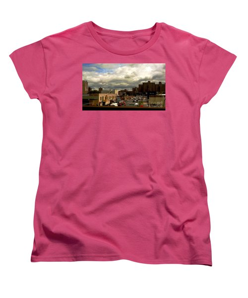 Women's T-Shirt (Standard Cut) featuring the photograph City And Sky by Miriam Danar