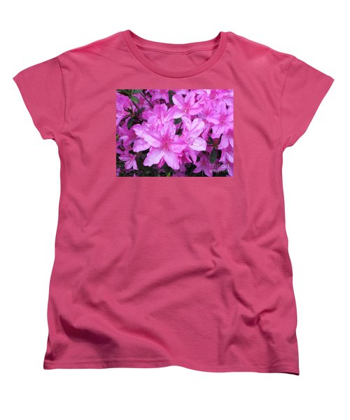 Azaleas Women's T-Shirt (Standard Cut) by Donna Dixon