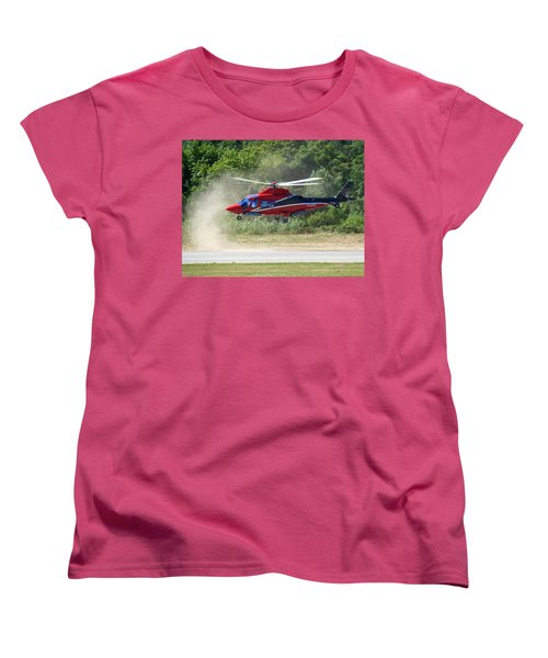 Women's T-Shirt (Standard Cut) featuring the photograph Close Landing  by Rogerio Mariani