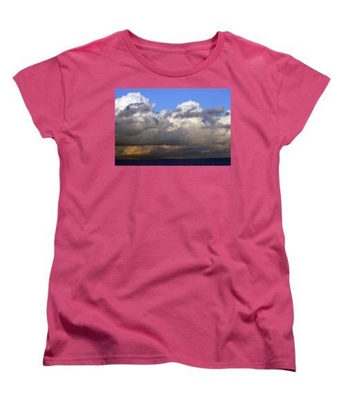 Clouds Over Portsmouth Women's T-Shirt (Standard Cut) by Tony Murtagh