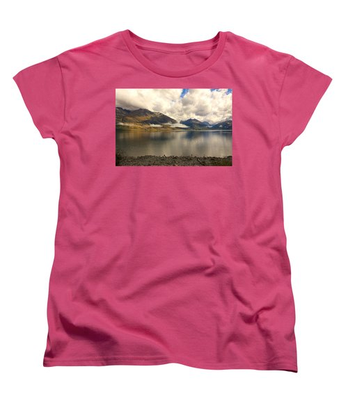 Women's T-Shirt (Standard Cut) featuring the photograph Clouds Over Wakatipu #1 by Stuart Litoff