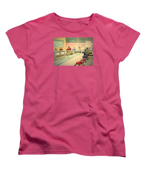 Coffee And Doughnuts Women's T-Shirt (Standard Cut) by Stacy C Bottoms