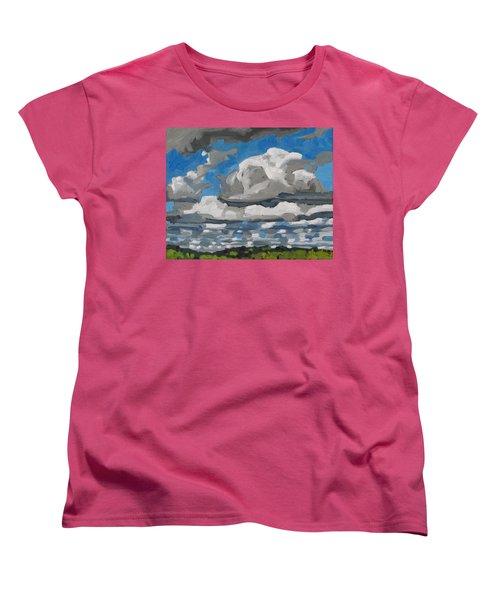 Cold Air Mass Cumulus Women's T-Shirt (Standard Cut) by Phil Chadwick