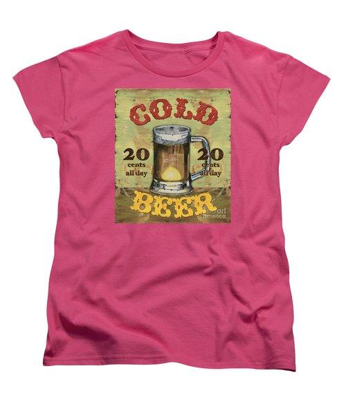 Cold Beer Women's T-Shirt (Standard Cut) by Debbie DeWitt