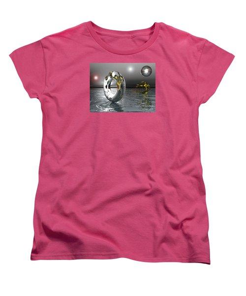 Cold Steele Women's T-Shirt (Standard Cut) by Jacqueline Lloyd