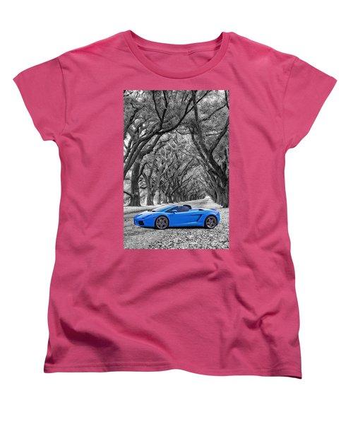Color Your World - Lamborghini Gallardo Women's T-Shirt (Standard Cut) by Steve Harrington