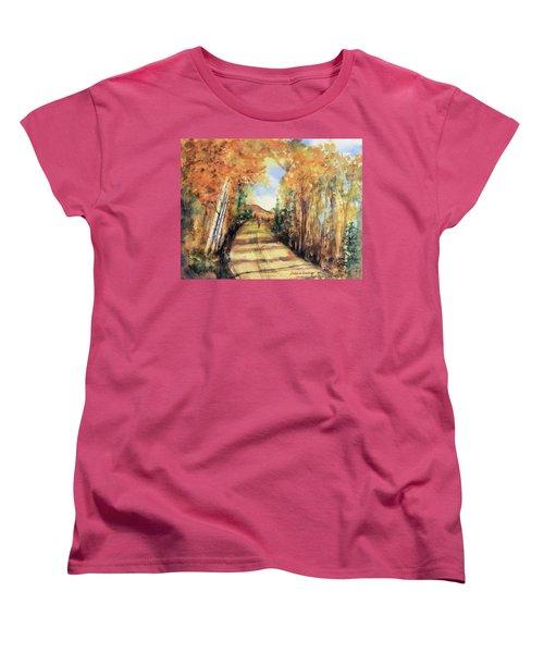 Colorado In September Women's T-Shirt (Standard Cut) by Debbie Lewis